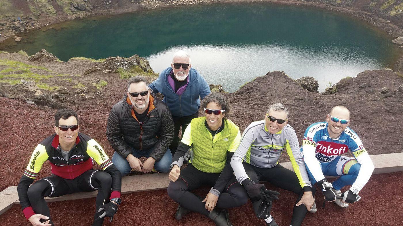התמונה הקבוצתית האחרונה במכתש וולקני קריד (Kerið)