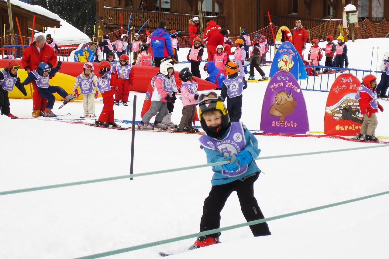 סקי עם ילדים