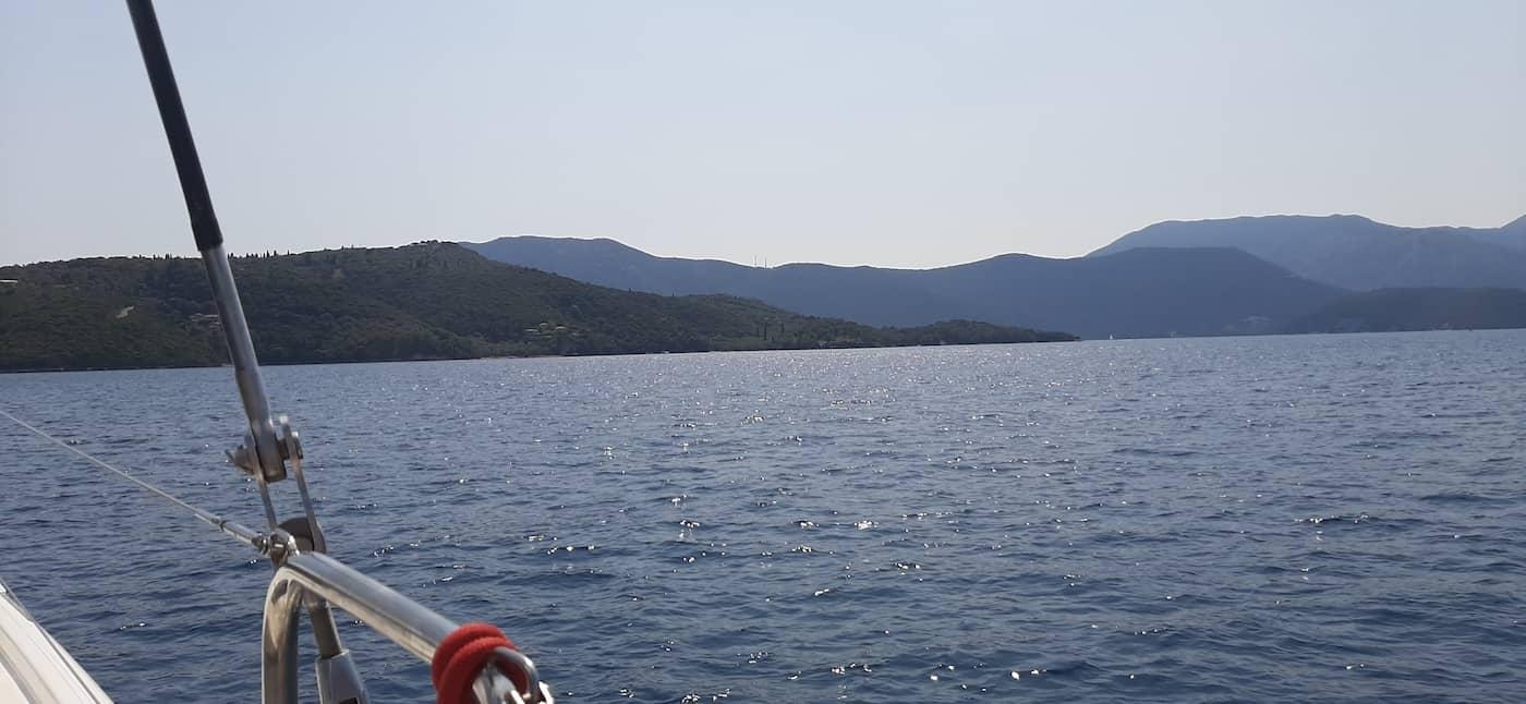 איים ביוון נוף מהיאכטה